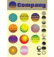 set of colorful pattern for making emblems vector image