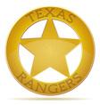 star texas ranger vector image