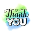 Thank you text vector image