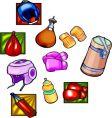 boxing equipment vector image