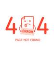 404 error with character error design template vector image vector image