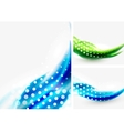 Abstract wave backgrounds vector image vector image