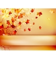 Autumn with leaves Back to school EPS 10 vector image vector image