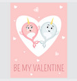 Be my valentine event card in cartoon style