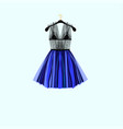 beautiful party dress vector image vector image