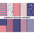 big set american style seamless patterns vector image vector image