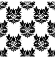 Bold black and white arabesque seamless pattern vector image vector image