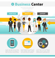 Business Training Web Page Infographics vector image vector image