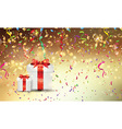 christmas gifts on confetti background 0709 vector image vector image