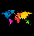 colorful map of world political map with vector image