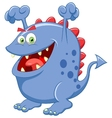 Cute blue monster cartoon vector image vector image