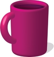 dark red mug with drink vector image vector image