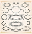 decorative rounded circle and oval frames borders vector image