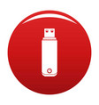 digital flash drive icon red vector image vector image