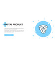 digital product icon banner outline template vector image vector image
