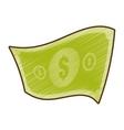 drawing american dollar money bill vector image vector image