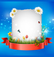 easter eggs with frame box vector image vector image