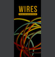 electrical wires of different colors vector image