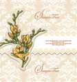 Elegant Floral Invitation card vector image