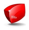 elegant Red Shiny Glass Banner vector image
