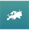 Eurasia map flat icon vector image