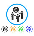 euro discussion rounded icon vector image vector image