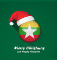 flag of myanmar merry christmas and happy new vector image
