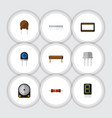 flat icon electronics set of bobbin memory vector image vector image