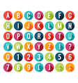 Flat icons alphabet vector image vector image