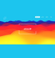 gradient wave abstract background presentation vector image vector image