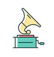 gramophone rgb color icon vector image
