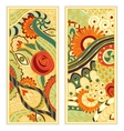 hand drawn ethnic pattern card set vector image vector image