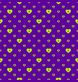 hearts pattern seamless geometric texture vector image
