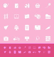 Hobby color icons on pink background vector image vector image