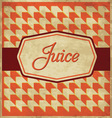 Juice Label Design vector image vector image