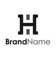 logotype monogram initial h creative concept vector image vector image