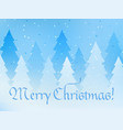 merry christmas greeting card blue magical vector image