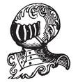 noble have five-barred vintage engraving vector image vector image