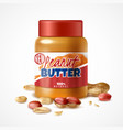 peanut butter jar composition vector image vector image