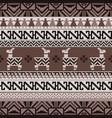 peruvian inca style knitting pattern vector image vector image