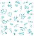 Pet animals doodle art vector image vector image