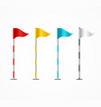 realistic 3d detailed golf flag set vector image vector image