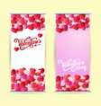 roll up with lettering happy valentine s day vector image vector image
