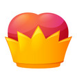 royal crown icon cartoon style vector image