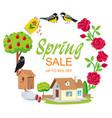 sale spring frame round garden vector image
