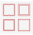 scandinavian cross stitch pattern vector image