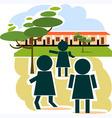 school place vector image vector image
