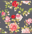 seamless floral pattern with of red roses vector image vector image