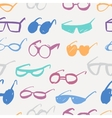 Seamless glasses pattern vector image vector image