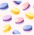 seamless pastel macarons vector image